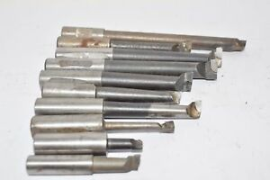 Lot Of 10 Carbide Tipped Tooling Machinist Mixed Lot Various Sizes