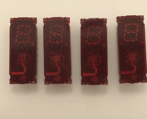 Lot Of 4 Til308 7 segment Displays With Logic Gold Pins