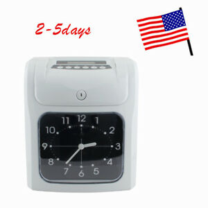 In Office Electronic Employee Analogue Time Recorder Time Clock Card Month week