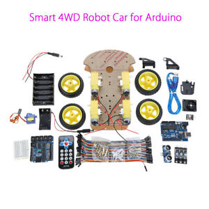 Stepper Motor 4wd Car Educational Smart Car Robot Ir Sensor Kits For Arduino Diy