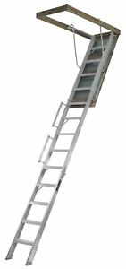 Louisville Ladder Al228p Aluminum Attic Ladder With 350 Lb Load Capacity And 10