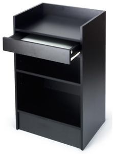 24 Retail Store Wrap Counter Cash Register Stand Black