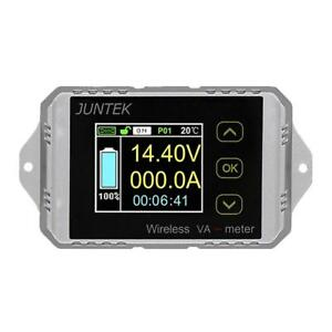Digital Color Lcd Wireless Voltage Current Power Meter Battery Coulometer Tester