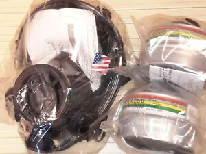 Sge 400 3 Gas Mask 2018mfg 2 Nbc Military grade Filters All New Exp 12 2022