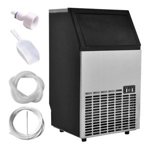 Stainless Steel Commercial Ice Maker Built in Portable Restaurant 110lb Capacity