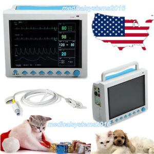 Vet Fda Veterinary Vital Signs Patient Monitor Ecg Nibp Spo2 Resp Temp Pr Contec