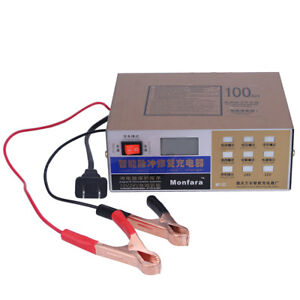 Car Motorbike Battery Charger Automatic Intelligent 12v 24v Pulse Repair Charger