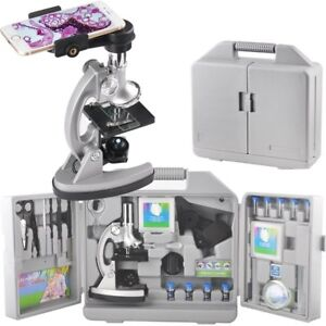 Gosky Kids Microscope Kit With Metal Arm And Base 300x 600x 1200x