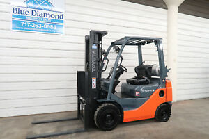 2013 Toyota 8fgu18 3 500 Pneumatic Tire Forklift Dual Fuel 3 Stage S s