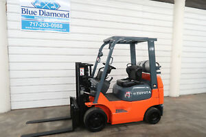 Toyota 7fgcu20 4 000 Cushion Tire Forklift Lp Gas Sideshift