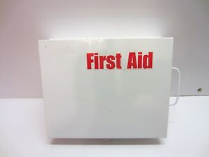 Industrial Metal First Aid Kit Box Wall Mount Portable Medical Cabinet