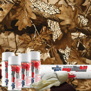 Hydro Dipping Film Hydrographics Designer Dip Kit Fall Leaves Brown Camo Hc213