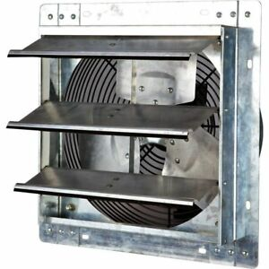 Shutter Exhaust Fan Mounted Variable Speed Automatic Electric Wall Garage 12 In