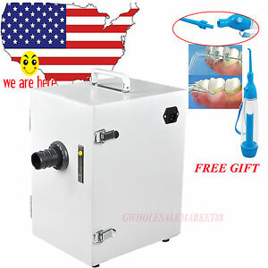 110v Dental Equipment Digital Single row Air Vacuum Dust Collector W Gift Floss