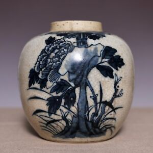 Fabulous Chinese Qing Dynasty Kangxi Old Pot Porcelain Blue And White Jar Jz007