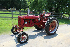 Antique Tractor International Farmall Super C Parting Out Rebuilt Engine