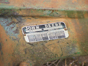 Antique John Deere 420 T Serial Number Plate Farmerjohnsparts