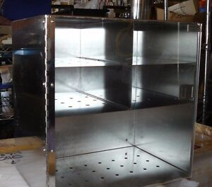 New Pro fab Stainless Steel Plexiglass Glove equipment Storage Cabinet