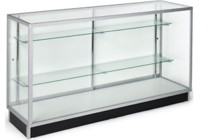 70 Full Vision Retail Counter Display Showcase Cabinet W Adjustable Shelves
