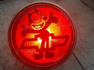 Chevy Stop Light felix The Cat 5 painted Nos Lens On Vintage Housing