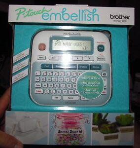 Brother P touch Embellish Ribbon Tape Printer new Unopened