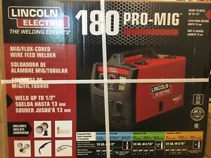 Lincoln Pro mig 180 Mig flux cored Wire Feed Welder 230v New In Box