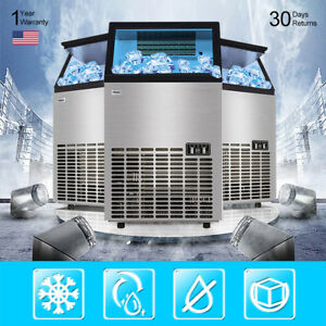 Stainless Steel Auto Ice Cube Maker Machine Commercial 68kg 150lbs 240w 220v Bos