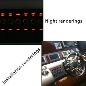 Yacht ship rv General 3pin Lamp 6 bit With Lens Combination Panel Switch C6i3