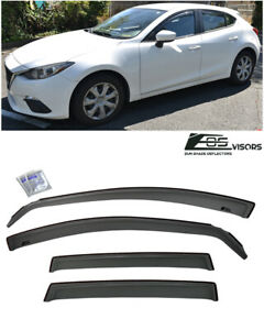 Eos For 14 18 Mazda 3 Sport In channel Side Window Visors Rain Deflectors