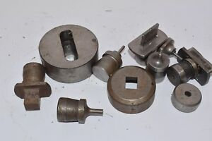Mixed Lot Of Punch Die Sets Roper Whitney Press Diacro Mixed Punches Dies