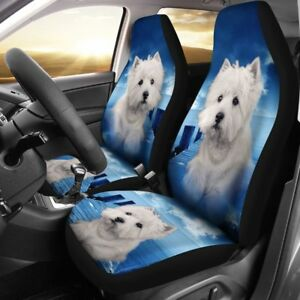 Cute Westie Dog Print Car Seat Covers Free Shipping