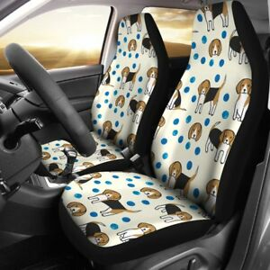 Cute Beagle Patterns Print Car Seat Covers Free Shipping