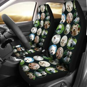 Cute Westie Dog Pattern Print Car Seat Covers Free Shipping