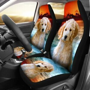 Cute Goldendoodle Dog Print Car Seat Covers Free Shipping