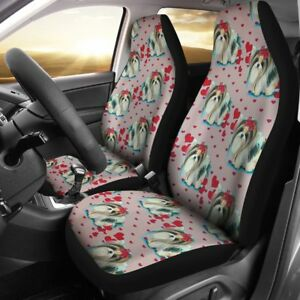 Cute Yorkie Dog Pattern Print Car Seat Covers Free Shipping