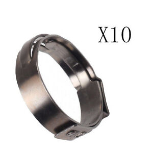 Stainless Steel 10x 3 4 Inch Pex 304 Clamp Cinch Rings Crimp Pinch Fitting