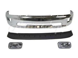 Front Bumper Chrome Face Bar Air Dam Fog Light For Dodge Ram 1500 2009 2012