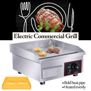 14 Electric Countertop Griddle Flat Top Commercial Restaurant Grill Bbq 1500w