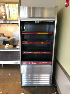 Grab And Go Display Case Refrigerated Cooler Open Air Restaurant