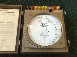Westinghouse Type P1 161 Portable Phase Angle Meter