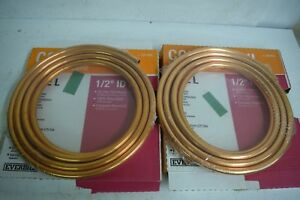 Qty 2 Boxes New Everbilt 1 2 In Id X 20 Ft Copper Soft Type L Coil 329855 Tubing