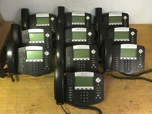 Lot Of 10 Polycom Soundpoint Ip 650 Ip650 Sip 2201 12630 001 Phone Tested