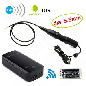 6led 5 5mm Endoscope Waterproof Inspection Camera Micro Usb Wifi Box Fr Phone T2