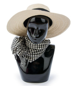 Glossy Black Abstract Countertop Boutique Female Mannequin Bust