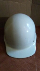 Vintage White Fiberglass Msa Skullgard Safety Hard Hat Class A