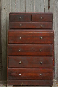 Antique Edwardian 1901 To 1910 S Wooden Chest Of Drawers Dresser Pick Up Only