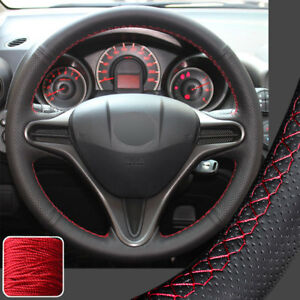 Hand Sew Steering Wheel Cover Diy Wrap For 2009 2013 Honda Fit Jazz 2014 Insight