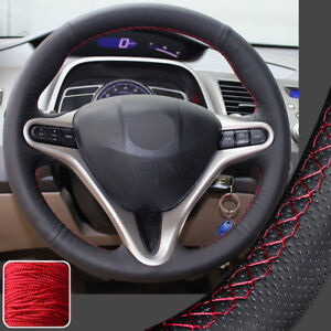 Hand Stitch Steering Wheel Cover Diy Wrap For 06 11 08 Honda Civic 13 5 14in