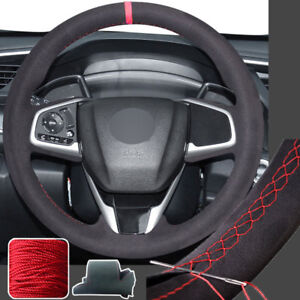 Hand Stitch Suede Wrap Steering Wheel Cover For 10th Honda Civic Crv 16 19 Cr V