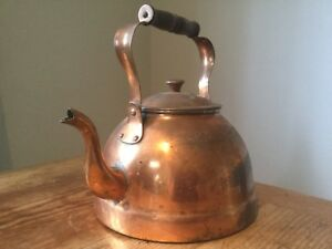 Large Quality Vintage Copper Kettle
